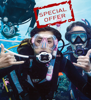 Réduction de 20% sur la réservation de cours OPEN WATER + ADVANCED OPE